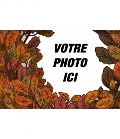 Automne cadre photo avec les feuilles des arbres