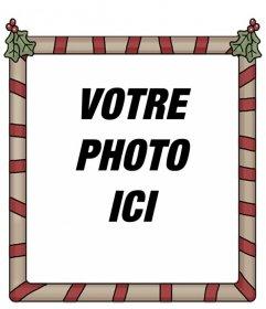 """Cadre photo Holly Jolly Christmas. Parfait pour mettre votre photo de fond et l""""envoyer comme message d""""accueil"""