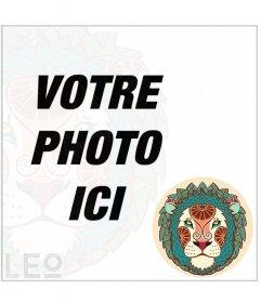 Effet photo du signe du Lion pour décorer vos photos avec un cadre