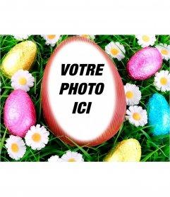 Photomontage de mettre votre image à lintérieur dun oeuf de Pâques