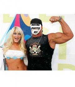 Si vous voulez être Hulk Hogan ceci est votre Photomontage du célèbre combattant