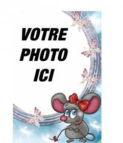 Cadre photo, le rat aime à mettre en ligne une image de fond