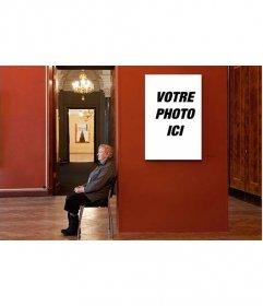 Photomontage de mettre votre photo sur un musée ennuyeux