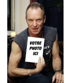 Photomontage avec Bruce Springsteen, mettre la photo dans un livre de Bruce