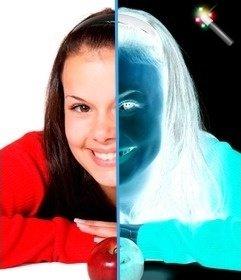 Filtre en ligne pour inverser la couleur. Photo négative