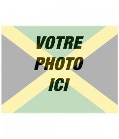 Collage de mettre le drapeau de la Jamaïque avec votre photo