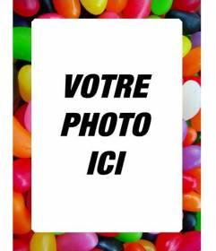 Jelly beans cadre photo pour faire en ligne avec votre photo