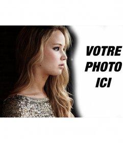 Photomontage avec Jennifer Lawrence profil vraiment à la recherche. Téléchargez votre photo