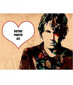 Collage avec un dessin du chanteur John Mayer