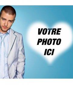 Effet photo pour les fans de Justin Timberlake et ajoutez votre photo