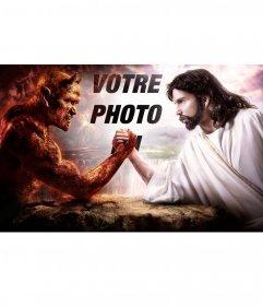 Photomontage de mettre votre photo entre le bien et le mal
