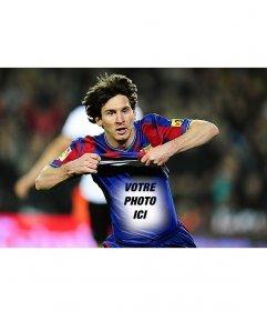 Photomontage de mettre votre photo sur le maillot de Leo Messi