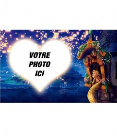 Collage avec un coeur de Rapunzel