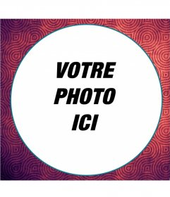 Photo de style psychédélique cadre pour vos images