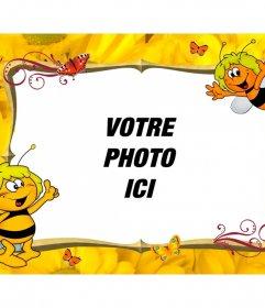 Cadre photo enfant à personnaliser avec Maya Bee
