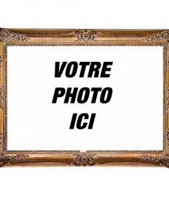 Cadre photo réaliste en bois pour mettre votre photo et obtenir un effet rétro