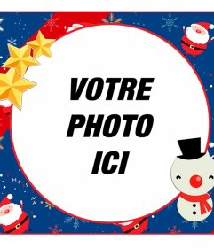 Noël Childrens cadre circulaire pour modifier avec une photo
