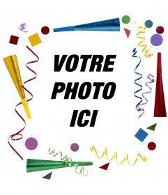 Parti cadre photo pour décorer vos photos en ligne