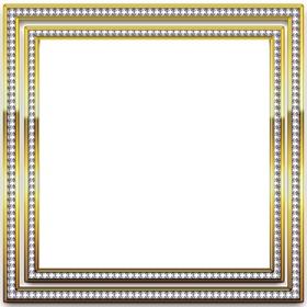 Cadre photo avec or et dargent bords