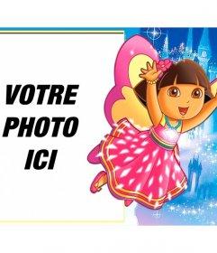 Enfants cadre pour mettre votre image avec Dora lexploratrice