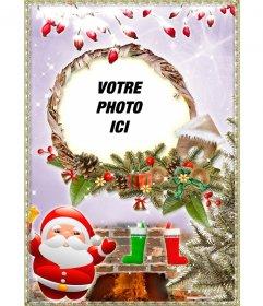 Carte de Noël de consacrer avec une photo