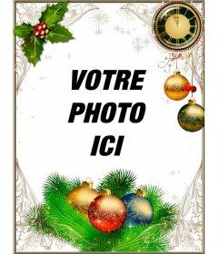 Cadre pour décorer vos photos de Noël et du Nouvel An