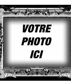 Cadre en noir et blanc avec style victorien pour vos photos