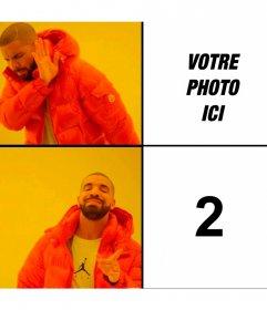 Photomontage du mème Bling de la Hotline de Drake avec deux photos