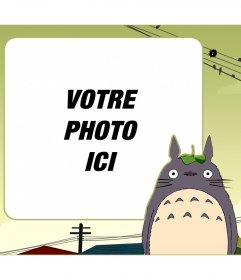 Enfants cadre pour mettre votre photo à côté de Mon voisin Totoro
