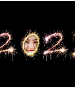Effet pour mettre votre photo en l'an 2020 zéro de feux d'artifice