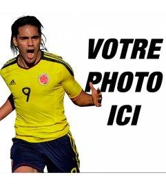 Photomontage avec Falcao de sélection Colombie
