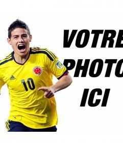 Photomontage avec James Rodriguez de la Colombie