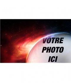 Photomontage planète Mars