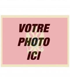 Mettez le drapeau du Monténégro avec votre photo à cet effet photo en ligne
