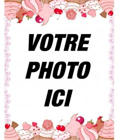 Cupcake cadre photo pour vos photos