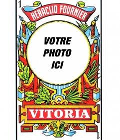 Photomontage pont de cartes espagnol