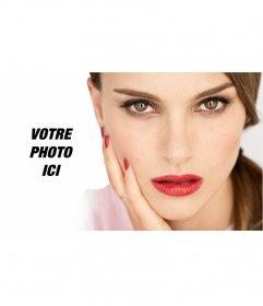Photomontage de poser avec lactrice Natalie Portman