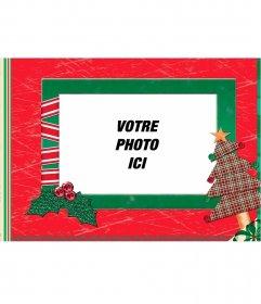 Cadre de Noël fait avec du papier pour mettre votre image Effet