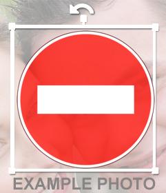 Autocollant dun panneau sens interdit
