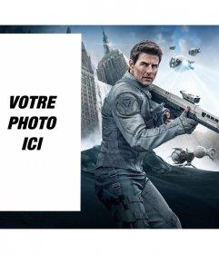 Photomontage avec Tom Cruise dans le film Oblibion