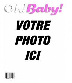 Modèle de faire une couverture de magazine OH BABY, votre bébé sera la star