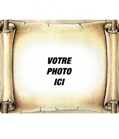 Photo montage de mettre votre photo sur un papyrus antiques. Donnez à vos photos un effet spécial