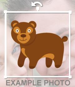 Autocollant dun dessin dun ours