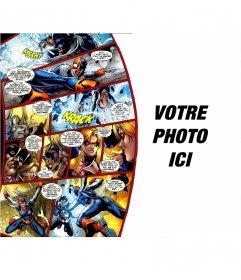 Photomontage avec des bandes dessinées