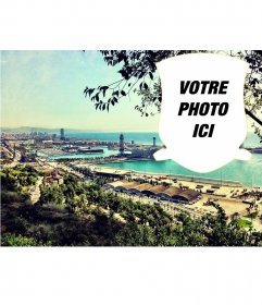 Carte postale avec un paysage de Barcelone