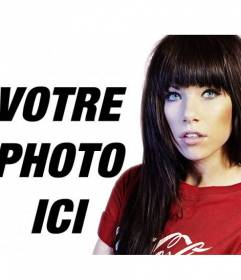 """Photomontage avec la chanteuse Carly Rae Jepsen, connu par le single """"Call Me Maybe"""""""