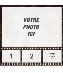 """Photo collage d""""un film de cinéma avec 4 cadres pour customiser en ligne"""