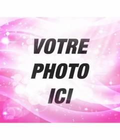 Brillant rose avec des étincelles filtre photo et gradient rosé pour donner un effet de fantaisie à vos photos