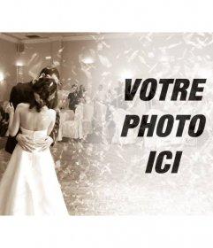 Filtrer pour éditer des photos avec un mariage à limage de la danse nuptiale en sépia pour mettre votre photo