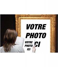 Effet photo où vous apparaissez dans un célèbre tableau dans un musée